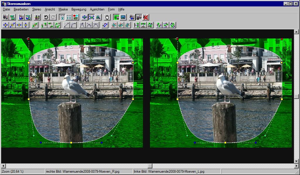 Screenshot Stereomasken